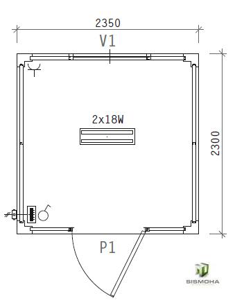 caseta de obra 2,3 x 2,4