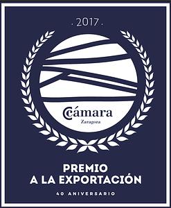 sello premio a la exportación Zaragoza