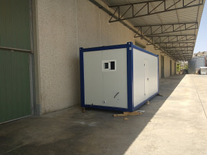 contenedor de obra con wc